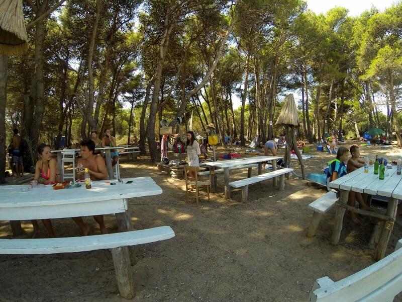 Beach games on hidden island
