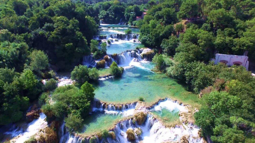 Swimming in waterfalls Krka