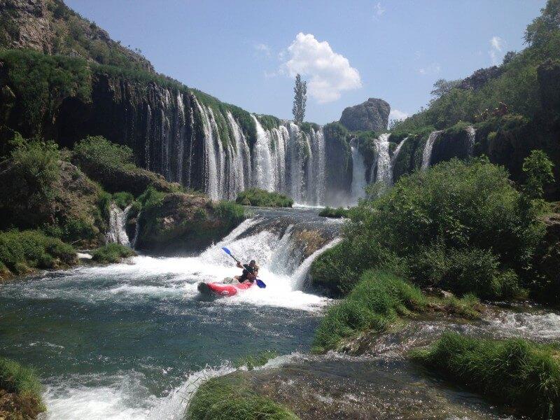 Kayak safari at river