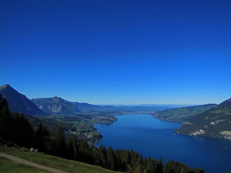 Town among two lakes