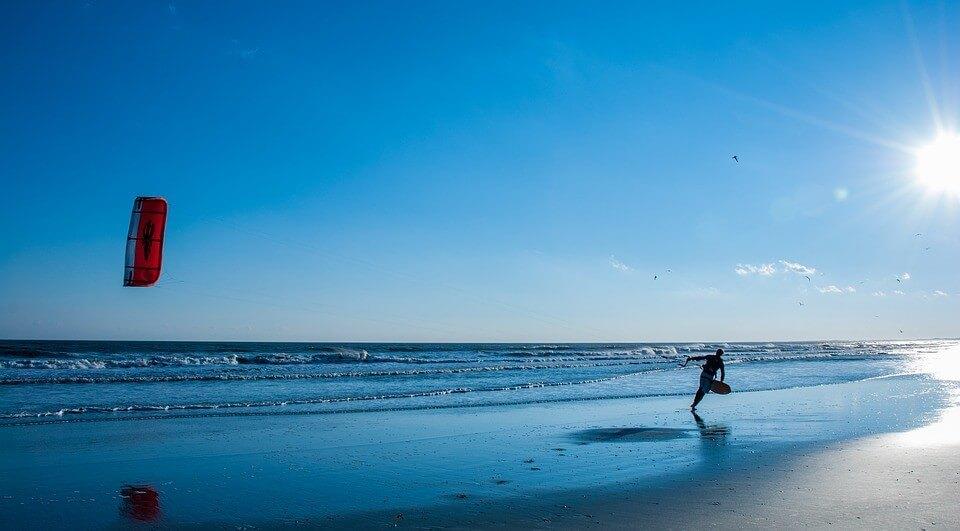 Heaven for kitesurfers