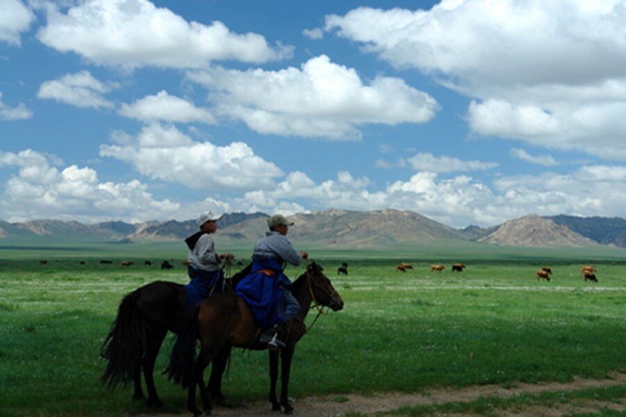 Nomadic trail along ancient horse relay