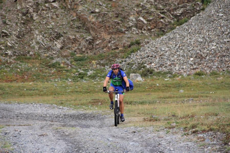 Biking through the epic trails