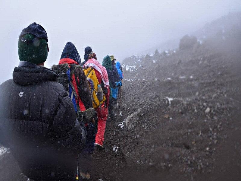 8 Days Lemosho route stayig at Crater Mt.Kilimanjaro trekking