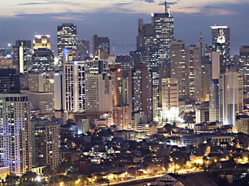 Arrival into Manila