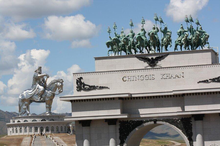 Statue of Genghis Kan.