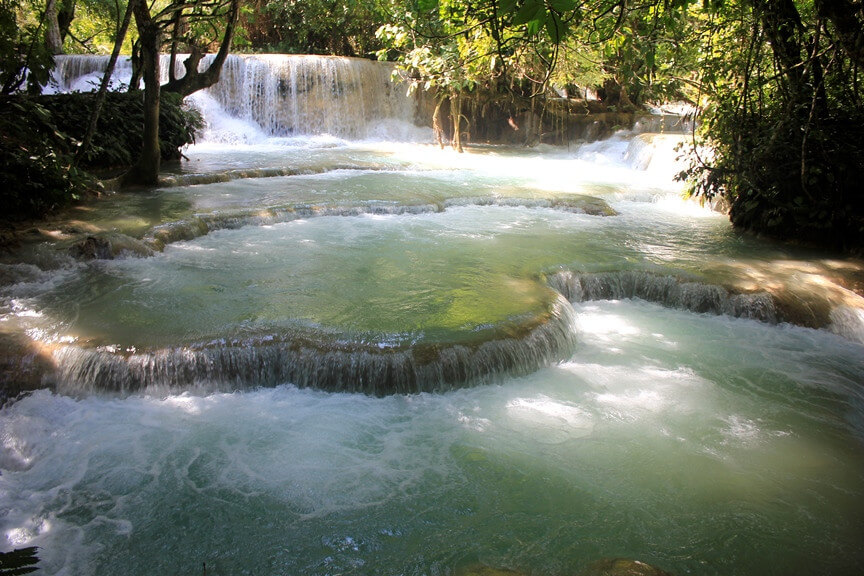 Kuang Sy natural and waterfalls