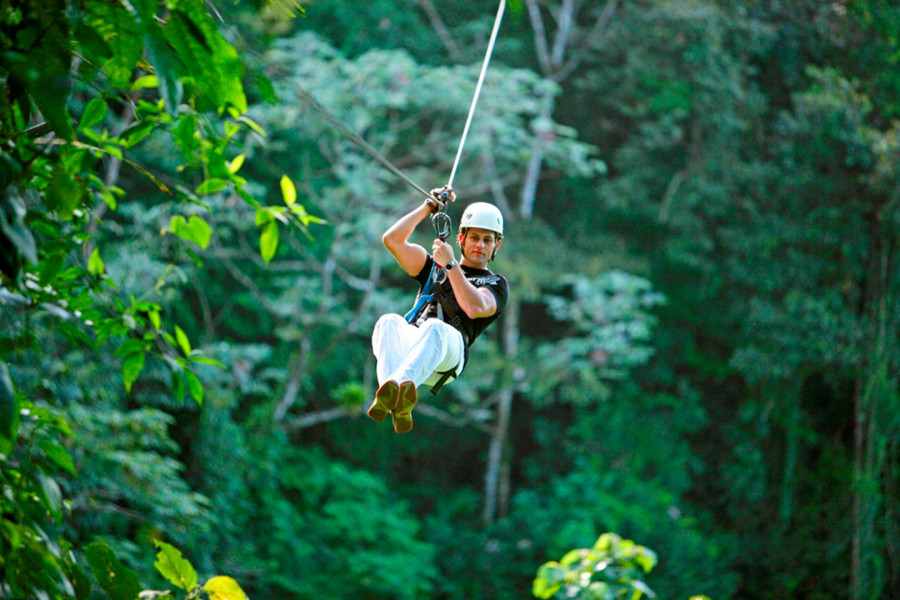 Shared Canopy Tour, Volcano Hike & Hot S