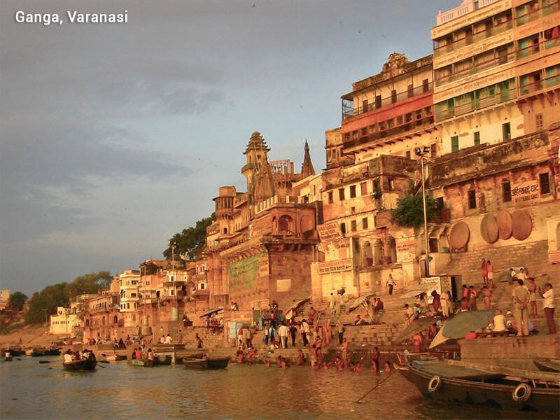 Golden triangle tour with spiritual Varanasi boat ride
