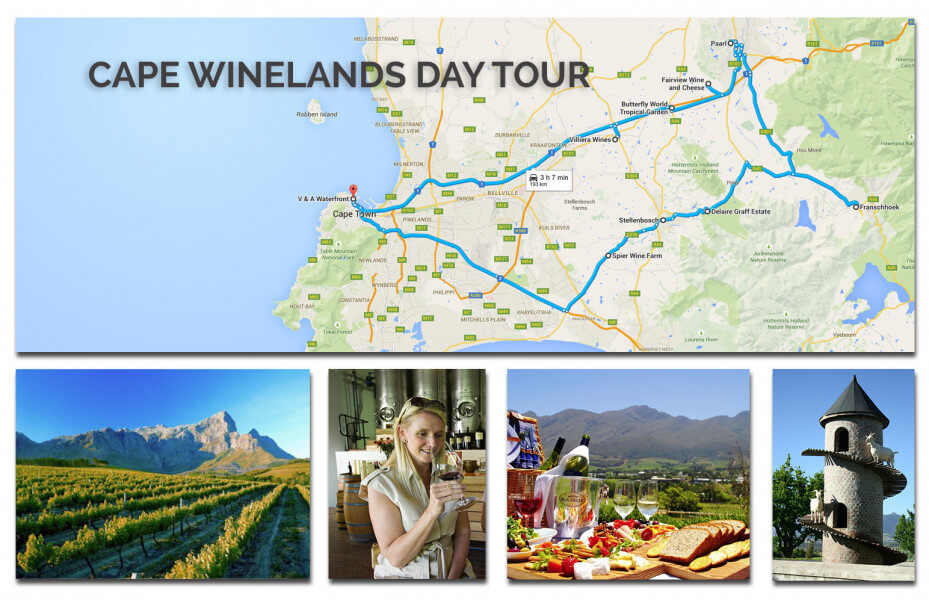 Cape Winelands Day Tour & Transfer