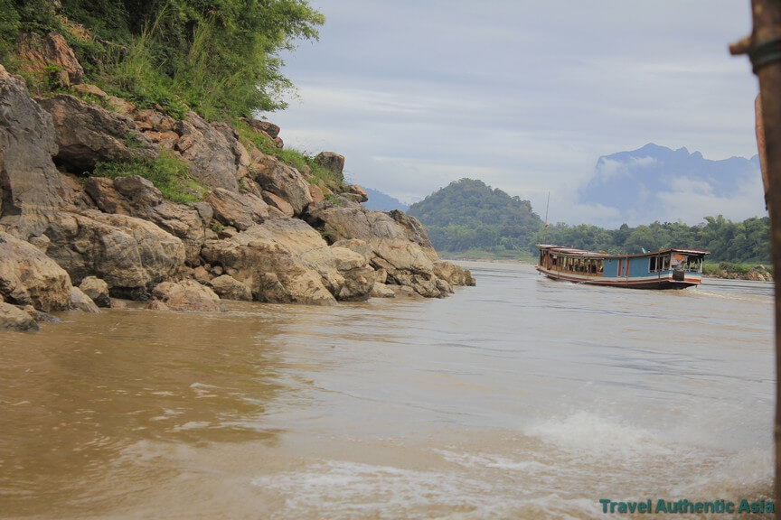 Mekong River cruise & holy Pak Ou caves