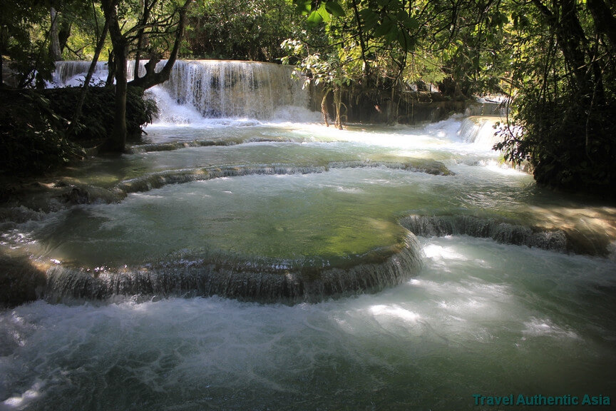 Kuang Si falls and soft walking
