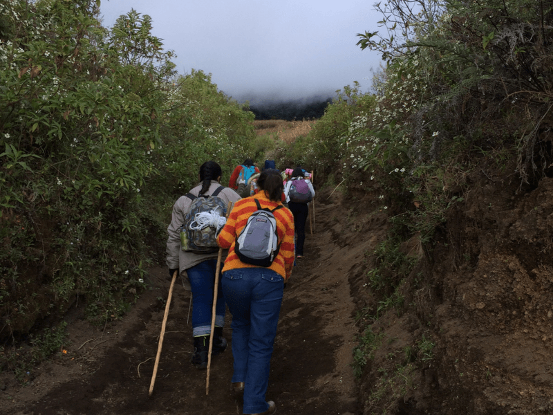 ASCENT TO THE  ACATENANGO VOLCANO