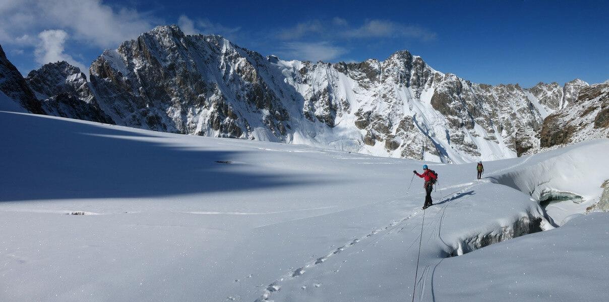 Trek on the glacier
