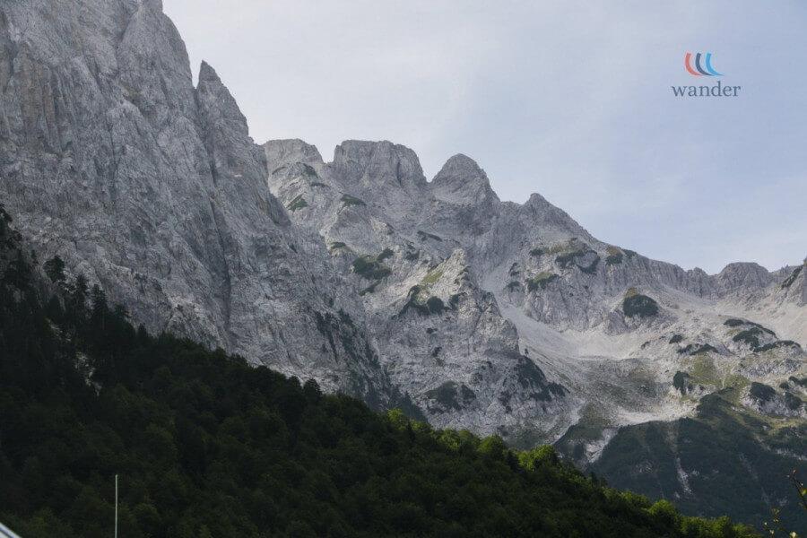 Hiking toward Valbone Valley
