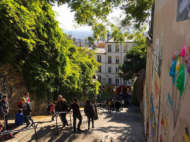 Paris and the village of Montmartre