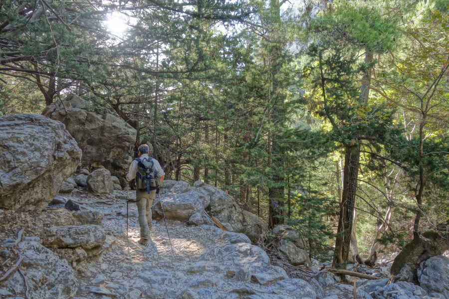 Walk through Samaria gorge