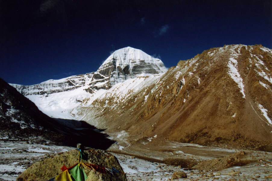 Trek to Dharchen and then drive to Mansa