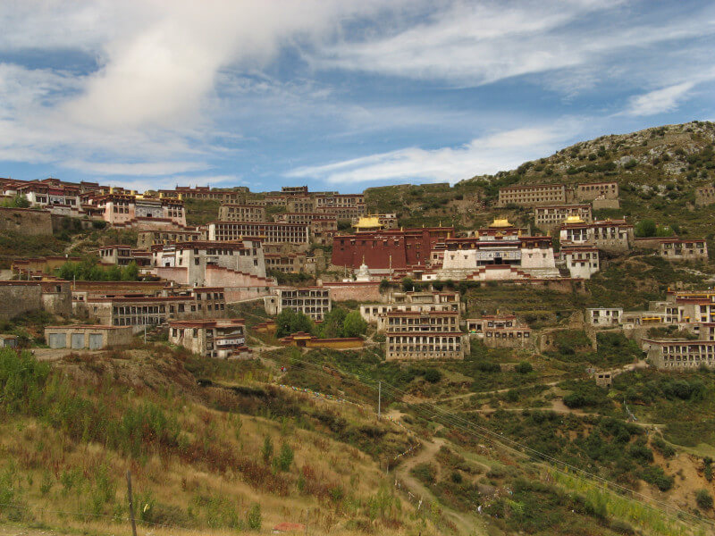 Excursion to Ganden monastery and then d