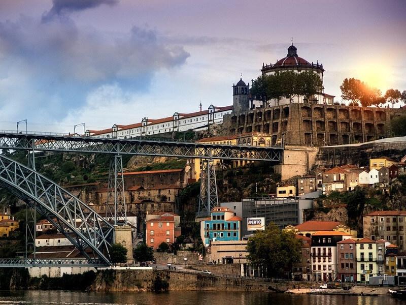 Arrival at Oporto