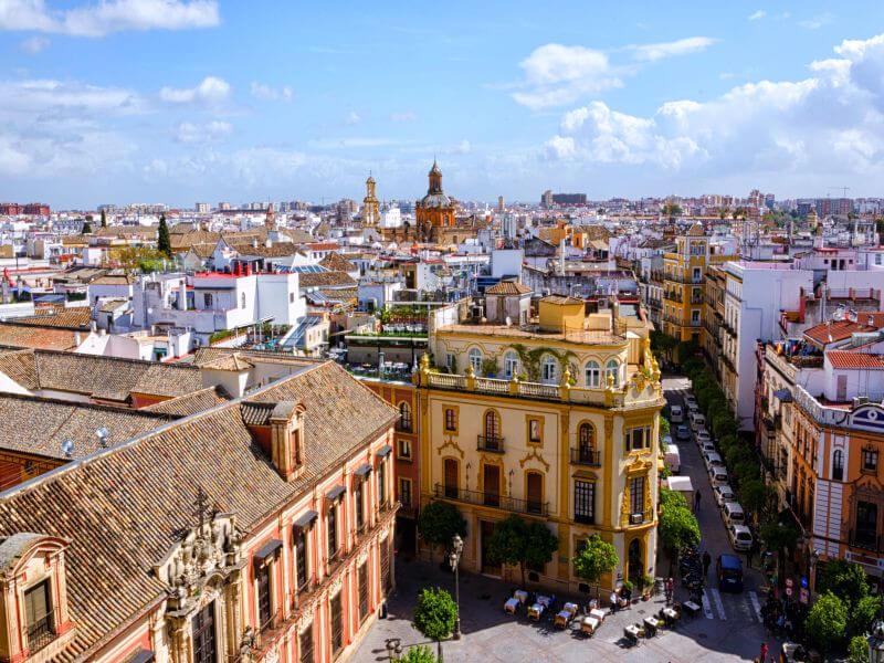 Arrival in Sevilla